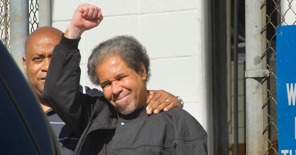 Albert Woodfox outside of Angola Prison on Feb 19, 2016. Author of Solitary: Unbroken by Four Decades in Solitary Confinement. My Story of Transformation and Hope, book review
