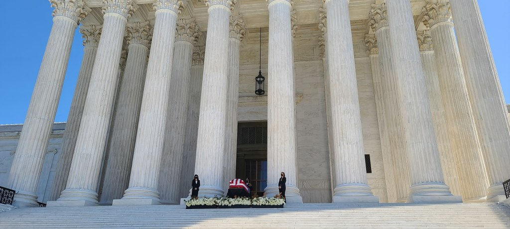 U.S. Supreme Court Justice Ruth Bader Ginsburg lying in state at the U.S. Capitol