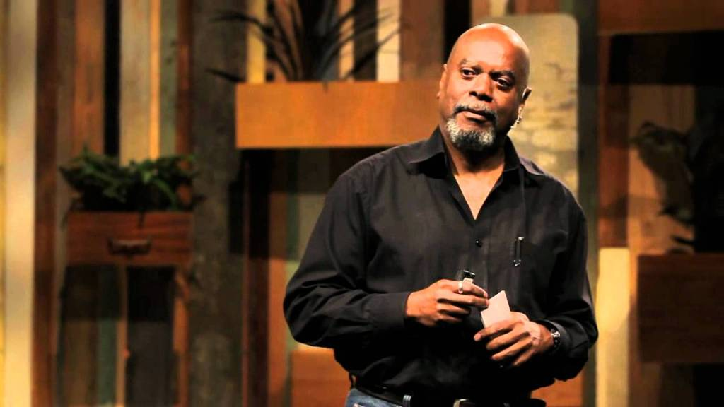 Sharif Abdullah lecturing, author of Creating a World That Works for All , book review