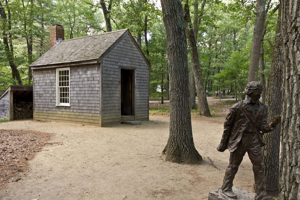 Henry David Thoreau's cabin in the woods