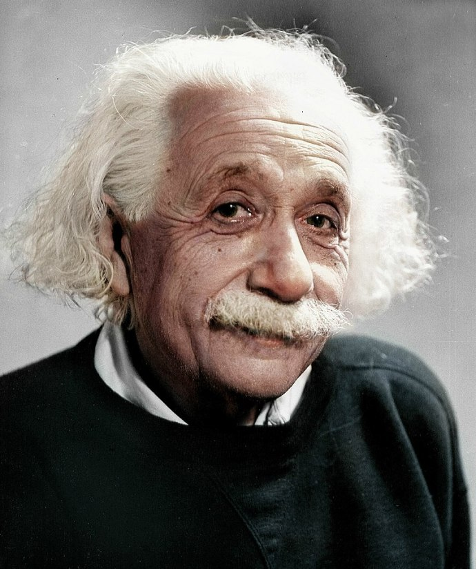 albert einstein portrait face only