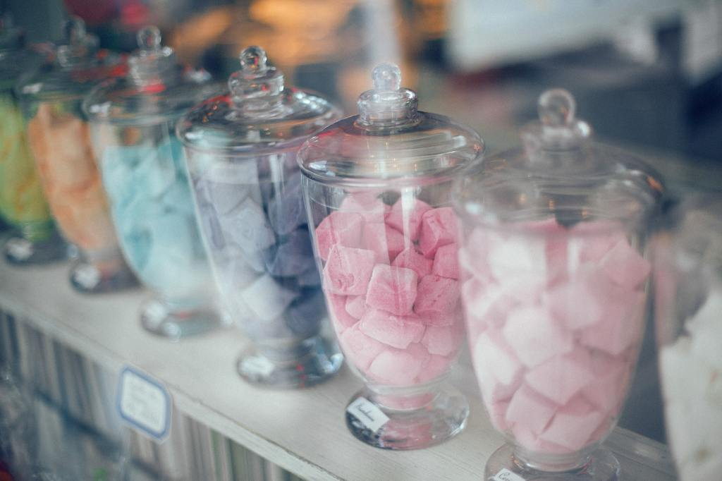Jars of different candy